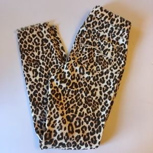 JUSTICE Leopard Print Skinny Jeggings NWT
